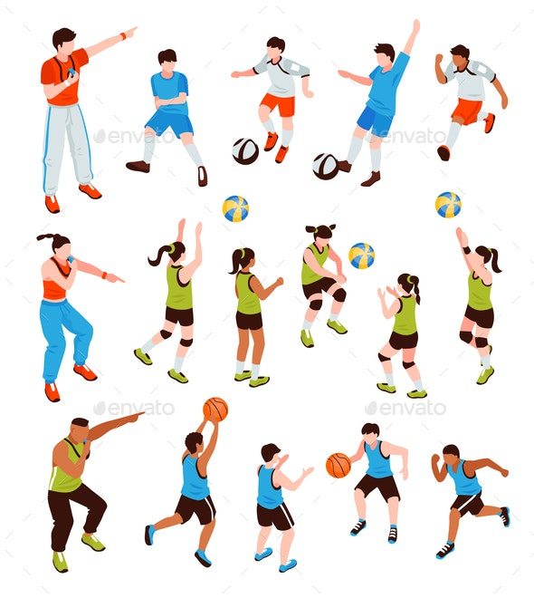 Young Athletes Isometric Set - Sports/Activity Conceptual