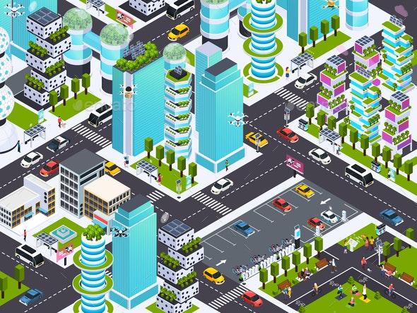 Smart City Background - Miscellaneous Vectors