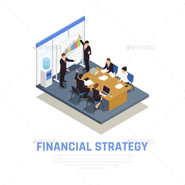 Investment Funding Isometric Composition - Business Conceptual