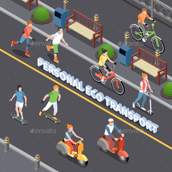 Personal Eco Transportation Composition - Nature Conceptual