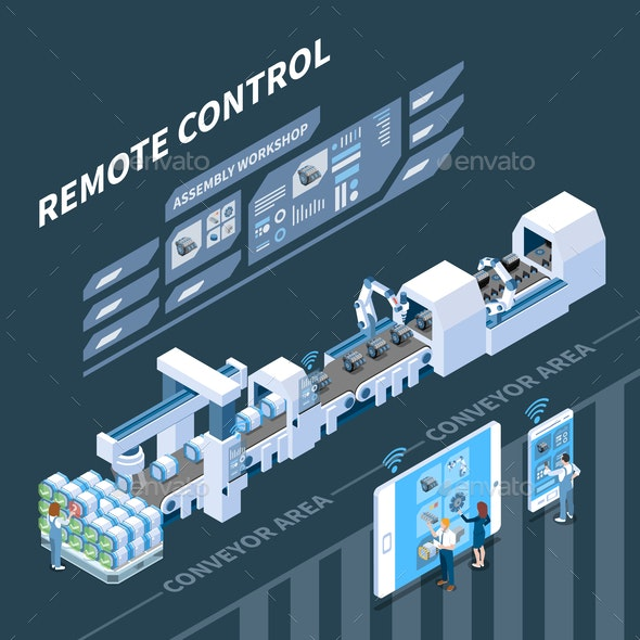 Remote Control Smart Industry Composition - Industries Business