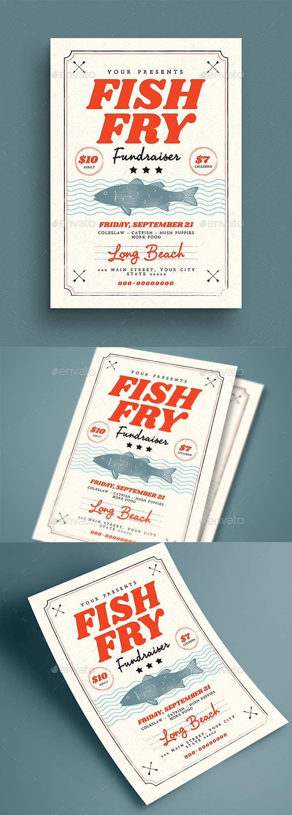 Fish Fry Flyer - Events Flyers