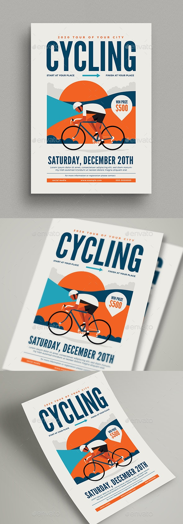 Cycling Event Flyer - Sports Events