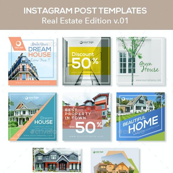 Real Estate Instagram Posts V.01