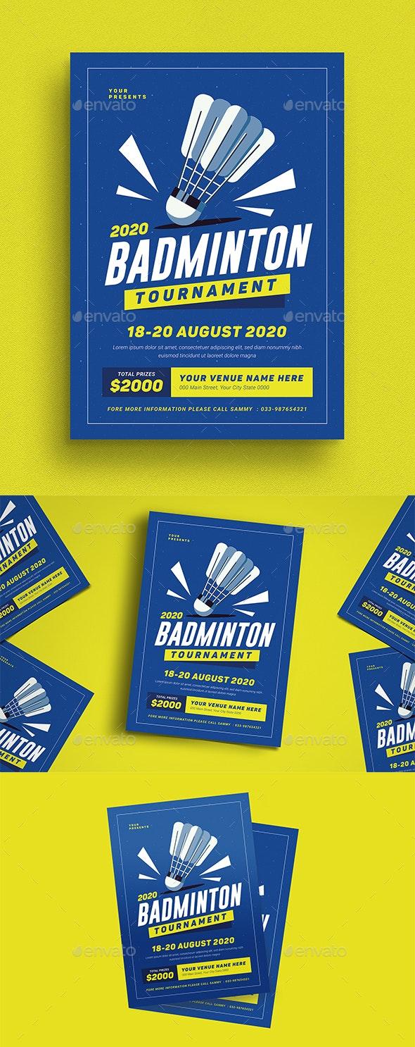 Badminton Tournament Event Flyer - Sports Events
