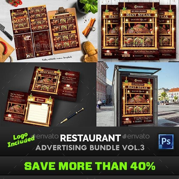 Restaurant Advertising Bundle Vol.3