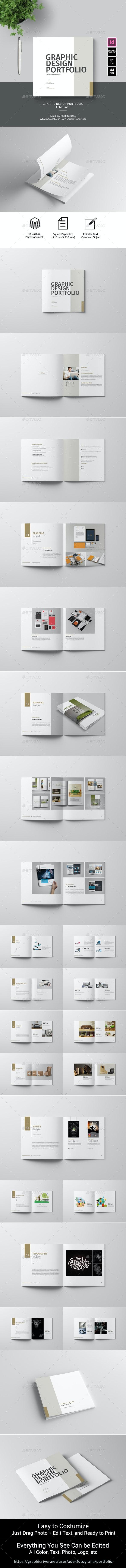 Graphic Design Portfolio Template - Portfolio Brochures