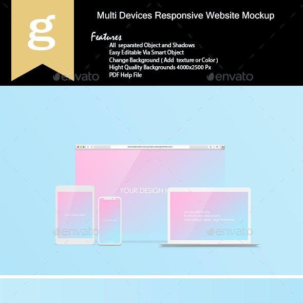 Multi Devices Responsive Website Mock-Ups