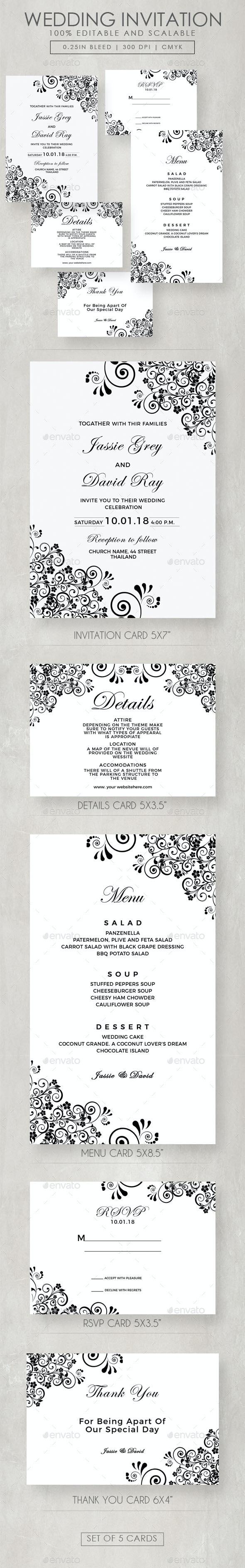 Vintage Flourish Wedding Invitation Suite - Weddings Cards & Invites