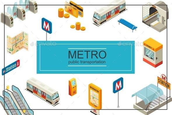 Isometric Subway Concept - Miscellaneous Vectors