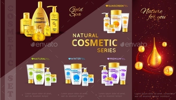 Realistic Cosmetic Series Template - Miscellaneous Vectors
