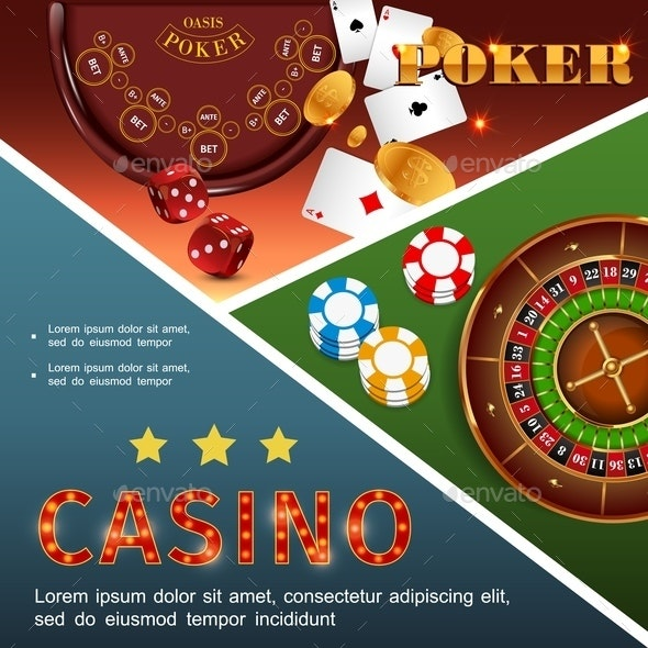 Realistic Casino Colorful Concept - Miscellaneous Vectors