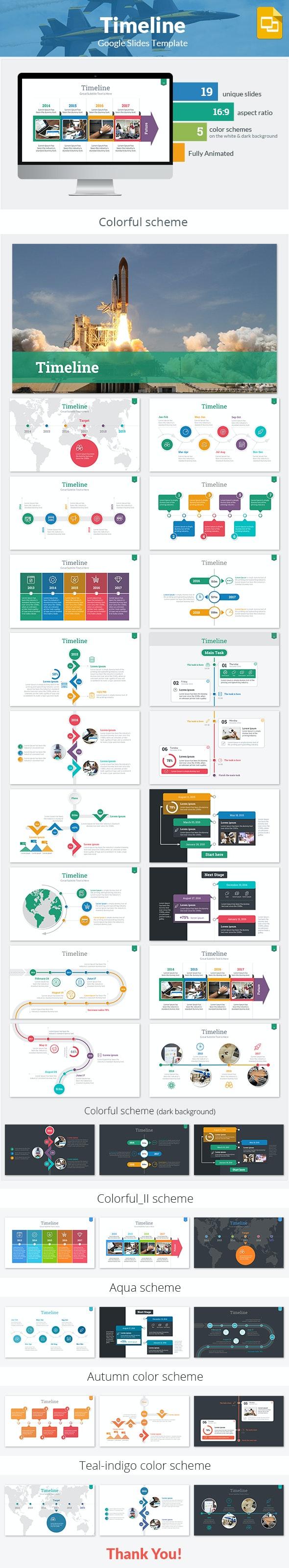 Timeline Google Slides Template - Google Slides Presentation Templates