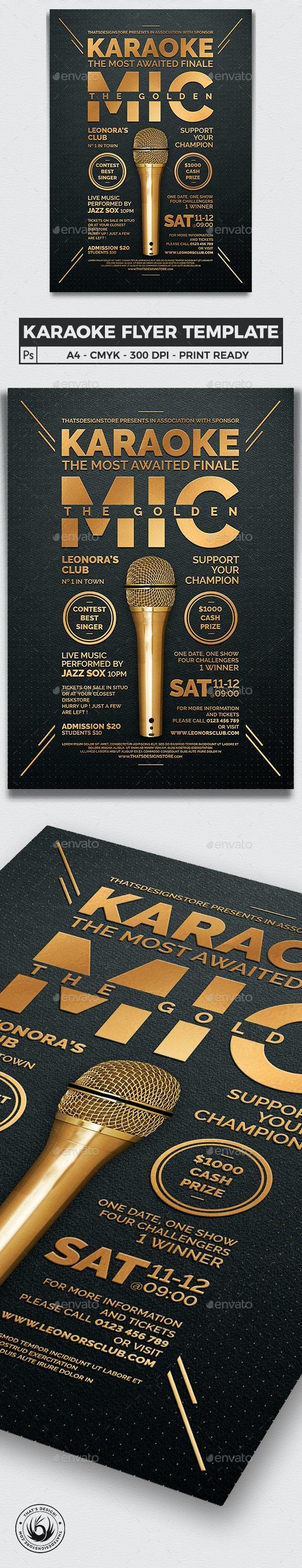 Karaoke Flyer Template V8 - Concerts Events
