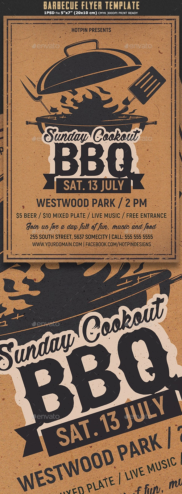 Barbecue BBQ Flyer Template - Events Flyers