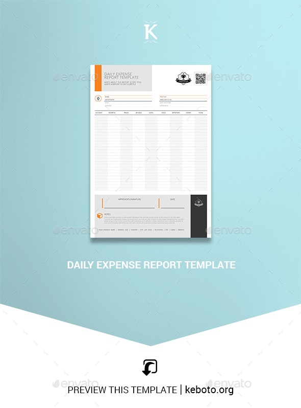 Daily Expense Report Template - Miscellaneous Print Templates