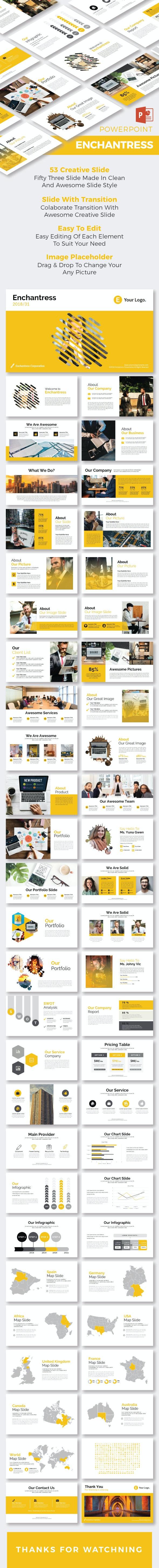 Enchantress PowerPoint Temp - Business PowerPoint Templates
