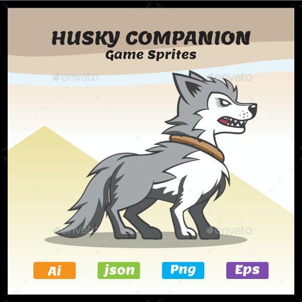 Siberian Husky | Dog Companion | Game Character Sprites