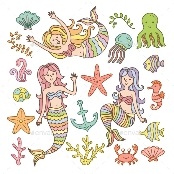 Mermaid Element Collection - Miscellaneous Characters