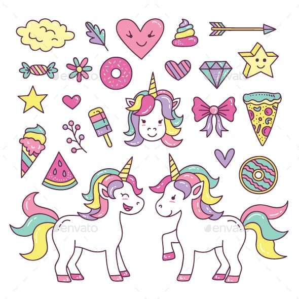 Unicorn Element Collection - Animals Characters