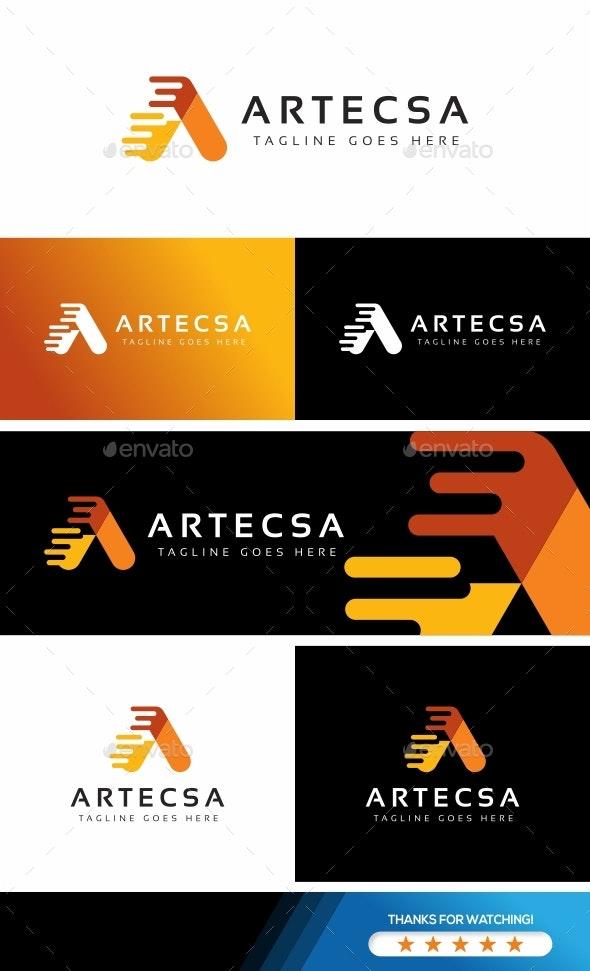 Letter A - Artecsa Logo - Letters Logo Templates