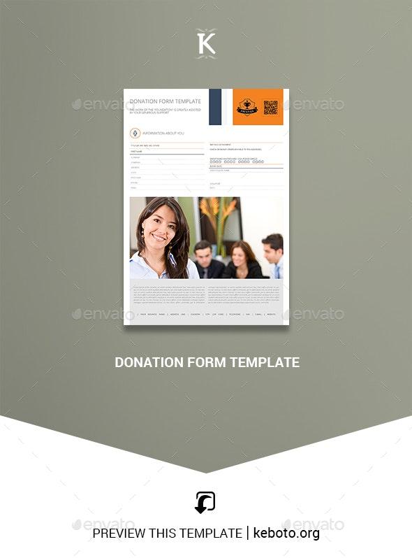 Donation Form Template - Miscellaneous Print Templates