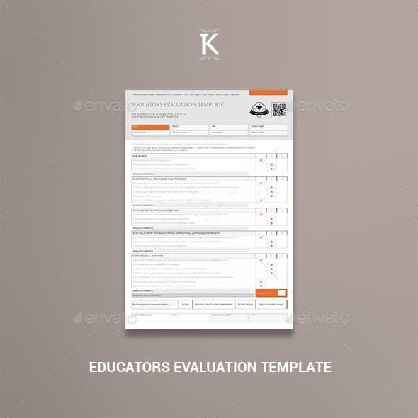 Educators Evaluation Template