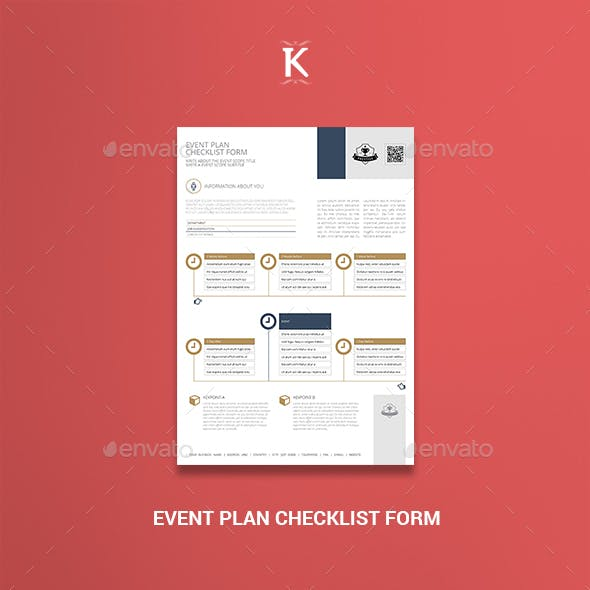 Event Plan Checklist Form