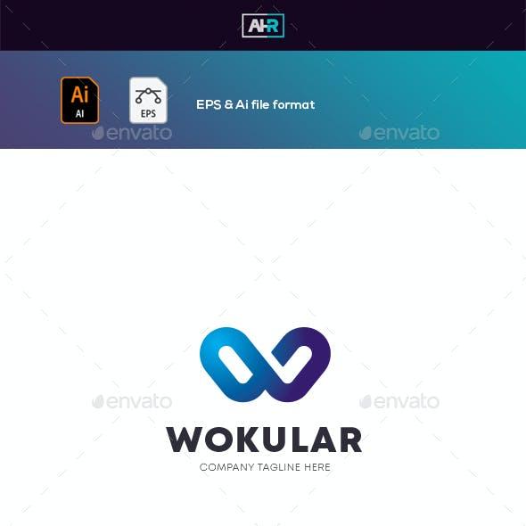 WOKULAR W Letter Logo