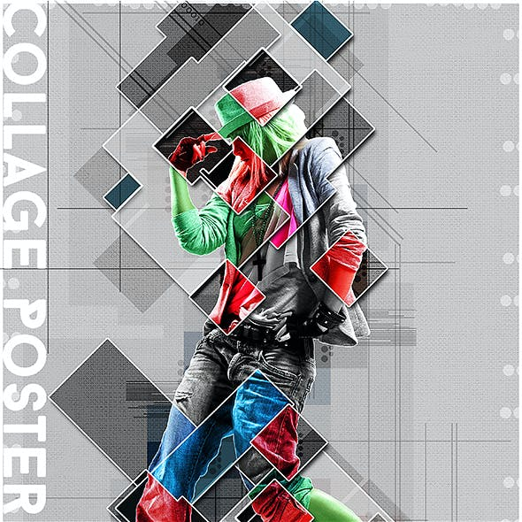 Collage Graphic Poster Photoshop Action
