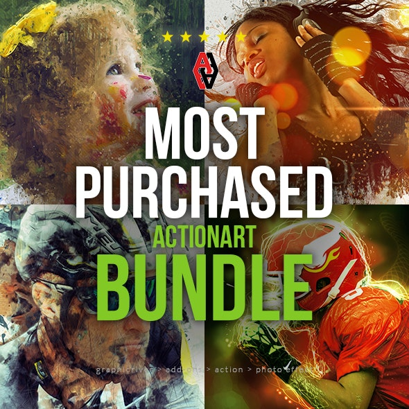 Most Purchased Actionart Bundle - Photo Effects Actions