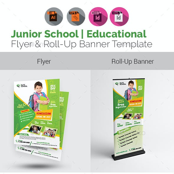 Junior School Flyer with Rollup Bundle