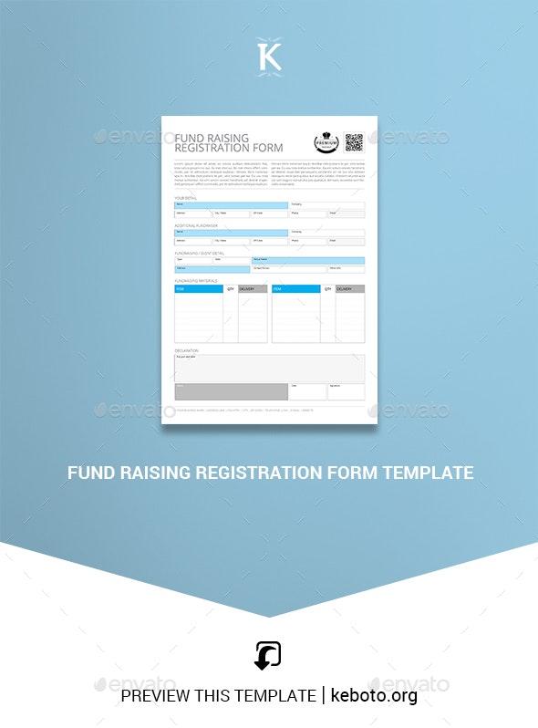 Fund Raising Registration Form Template - Miscellaneous Print Templates