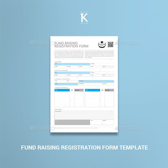 Fund Raising Registration Form Template