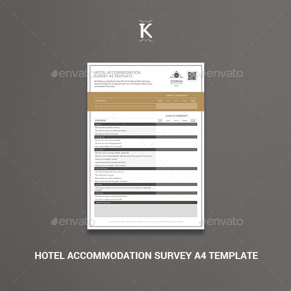 Hotel Accommodation Survey A4 Template