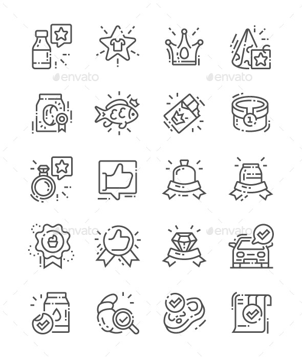Premium Quality Line Icons - Business Icons