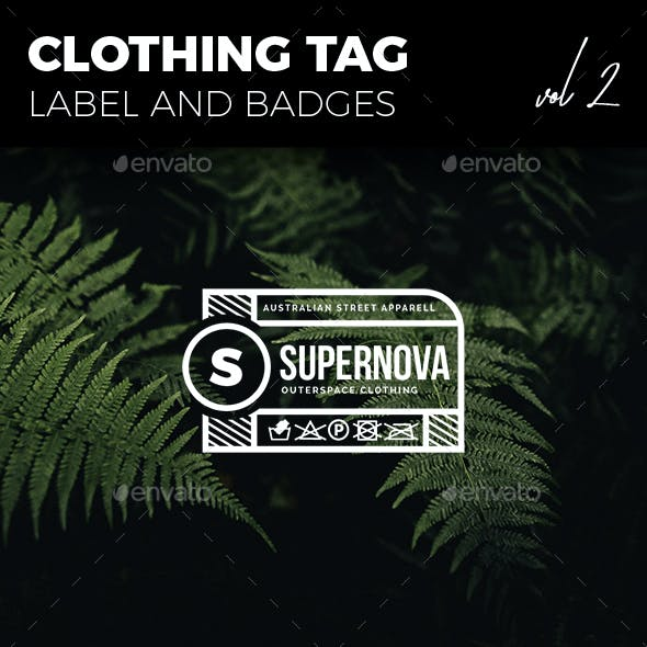 Clothing Tag Label and Badges Vol. 2