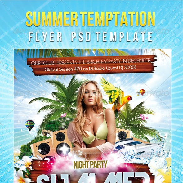 Summer (Spring) Temptation - Flyer PSD Template