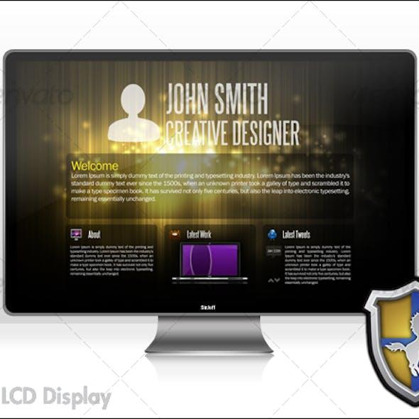 Sleek LCD Display