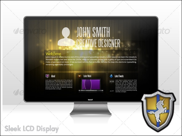 Sleek LCD Display - Monitors Displays