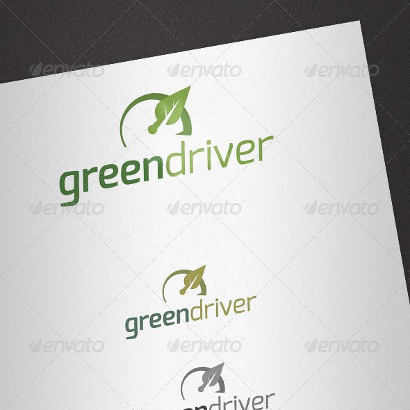 Green Driver Logo Template