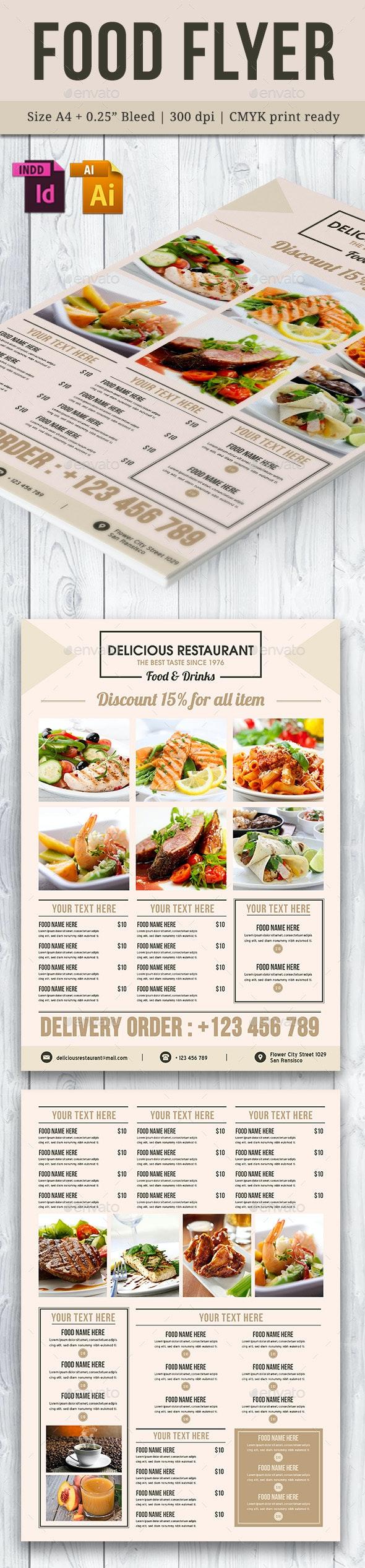 Food Flyer Template Vol. 10 - Restaurant Flyers