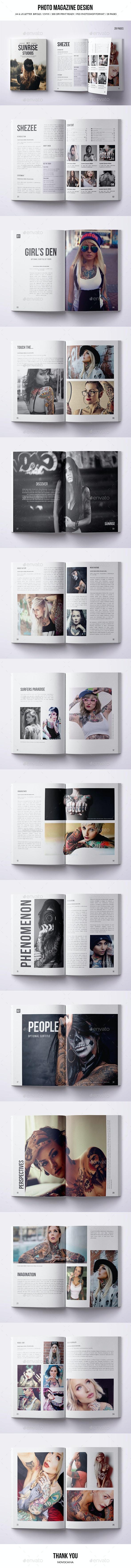 Multipurpose Photo Magazine - A4 & US Letter - 28 Pgs - Magazines Print Templates
