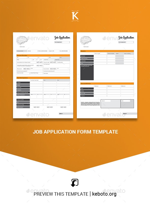 Employee Application Form Template Free from graphicriver.img.customer.envatousercontent.com