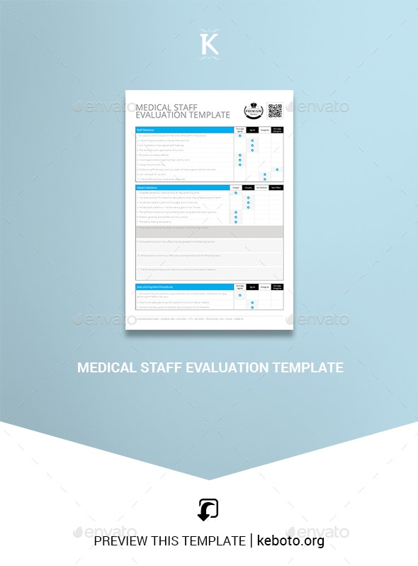 Medical Staff Evaluation Template - Miscellaneous Print Templates