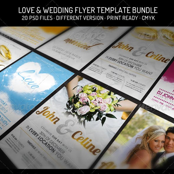 Bundle III. - Love & Wedding - Flyer Template
