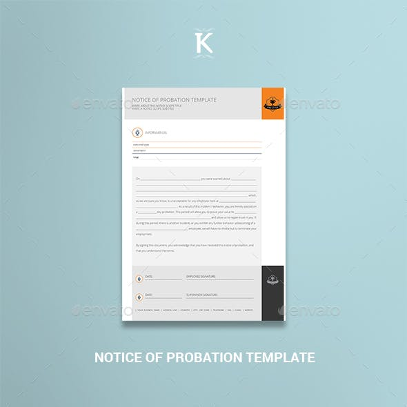 Notice of Probation Template