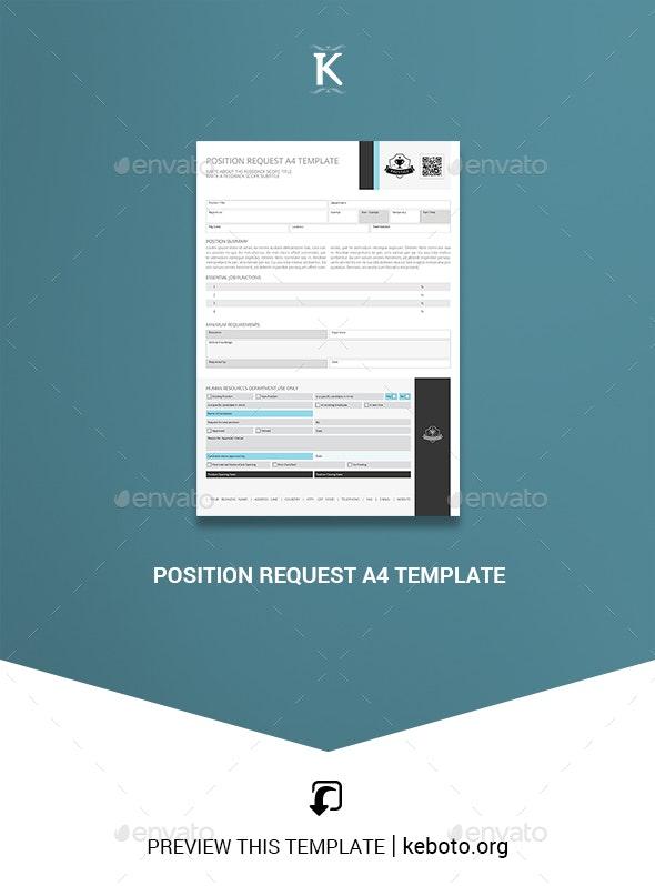 Position Request A4 Template - Miscellaneous Print Templates