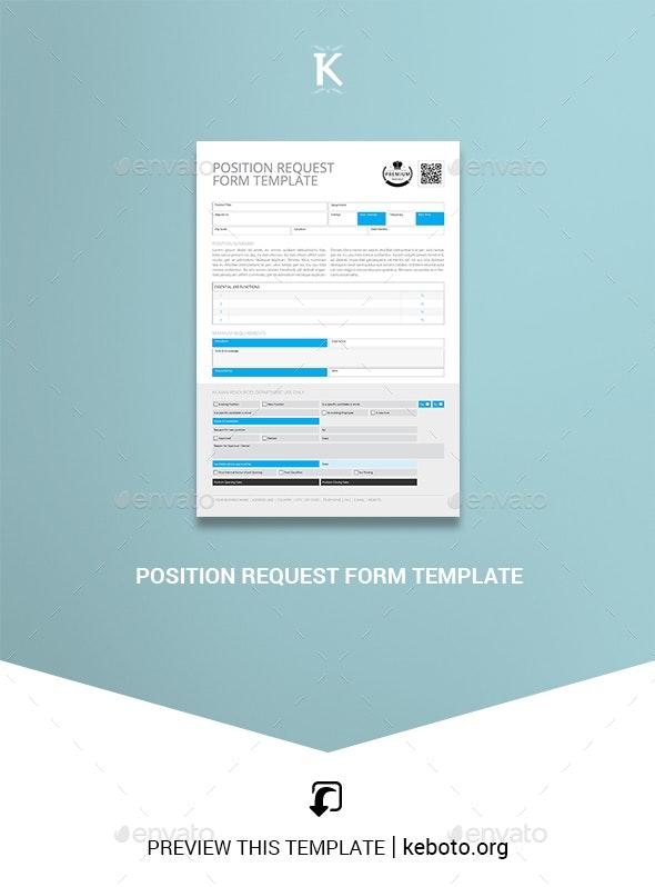 Position Request Form Template - Miscellaneous Print Templates