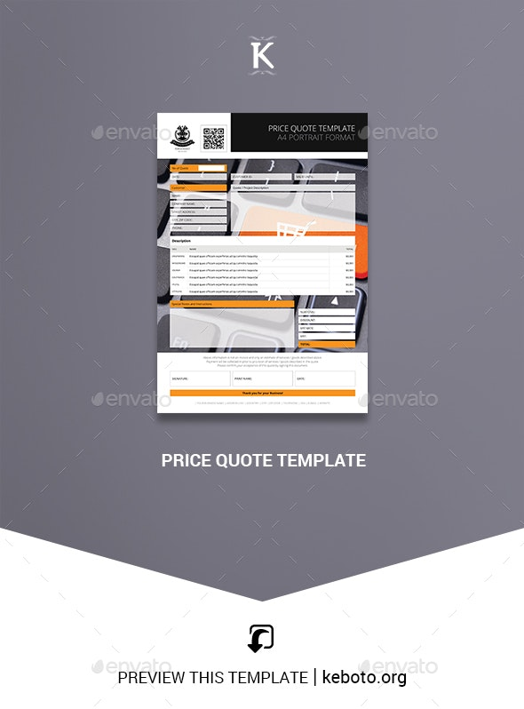 Price Quote Template - Proposals & Invoices Stationery